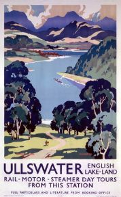 Ullswater, Lake District, Cumbria. Vintage LNER Travel poster by Kenneth Steel.